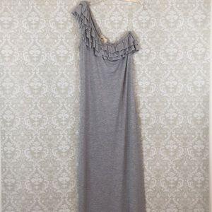 NWT! {Pink Rose} One Shoulder Maxi Dress XL